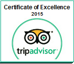 tripadvisor.com Award - Certificate of Excellence 2015
