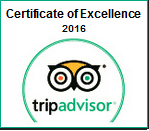 tripadvisor.com Award - Certificate of Excellence 2016
