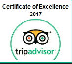 tripadvisor.com Award - Certificate of Excellence 2017